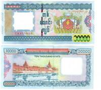 UNC MYANMAR 10000 Kyat (2015) P-84