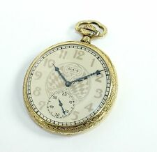 ELGIN POCKET WATCH - 12S - 15 JEWEL - 25 YEARS GOLD FILLED - RUNS - MX427