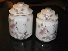 Set of 2 Mikasa Continental Silk Flowers Canisters