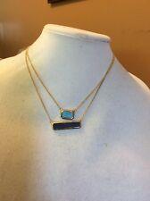 Ralph Lauren Short Gold Dbl Necklace #446