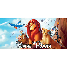 Disney Lion King Personalised Bedroom Door Sign - Any Name/Text (L1)