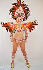 BRAZILIAN ORANGESILVER SHOW GIRL  carnival SAMBA  COSTUME bikini/CUSTOM MADE