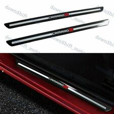 Carbon Fiber Car Door Welcome Plate Sill Scuff Cover Panel Sticker For CAMARO SS