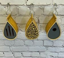More details for factory second - hanging bird nest box, insect hotel & butterfly house set