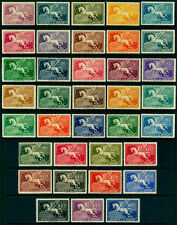 URUGUAY 1929-43  AIRMAIL - PEGASUS - very long complete set  Sc# C27-60A mint MH