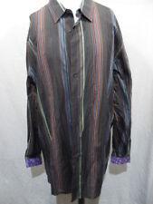 J. Garcia Flip Cuff Multi Color Long Sleeve Button Front Shirt Men's Sz 3XLT