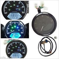 KMH MPH LCD Digital Odometer Motorcycle Speedometer Tachometer 12000RPM Harley