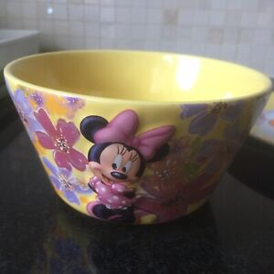 Mickey & Minnie Mouse Cereal Ceramic Bowl And Little Wingers Porcelain Plate