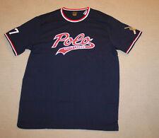 Polo Ralph Lauren Men's Big/tall Baseball Bear Logo 67 Shirt Navy 2xb Thespot917