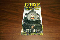 OCTOBER 2001 TENNESSEE VALLEY RAILROAD TIMETABLE AND BROCHURE