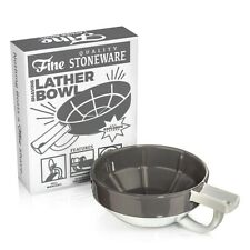 Fine Wet Shave Lather Bowl Gray White