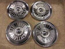 Set Of Four 1957 Ford Galaxie Fairlane T Bird Hub Caps Wheel Covers Hubcaps