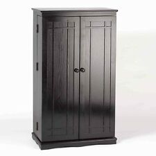 Solid Wood Cd Dvd Cabinet Rack 612 298 Storage Black