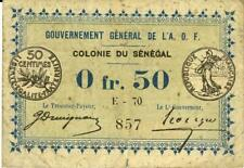 Senegal 50 Centimes Currency Banknote 1917