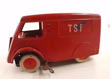 JAN VINOT FRANCE 5194-9A DURIEZ Fourgon TSF tôle moteur à clé ancien 21 cm RARE