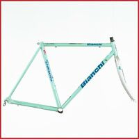 BIANCHI COLUMBUS STEEL FRAME FRAMESET VINTAGE 90s ROAD RACING BIKE STEEL CELESTE