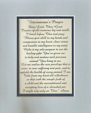 VETERINARIAN'S PRAYER Doctors ANIMALS Dogs Cats GOD MADE verses poems plaques