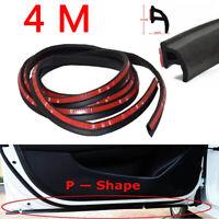 P-Shape Car Door Rubber Seal 4M Weatherstrip Hollow Strip Edge Sealing Universal