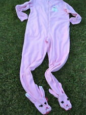 Nick Nora Pink Easter Bunny Rabbit Suit Costume Footie Pajamas Onezy Womens M