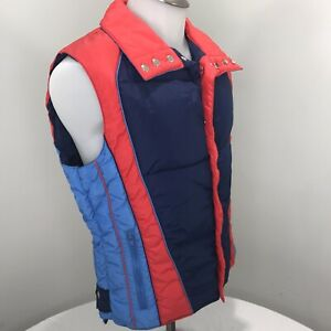 80s San Felice Sportswear vintage ski vest  90s Rad pink oversized puffer vest  Skiing snowboarding vest  M L XL