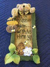 Wood Bear Sign