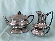 Antique Earthenware Tea Pot,Hot Water & Creamer set  - Gibson & Sons - c1909