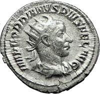 GORDIAN III 244AD Silver Authentic Genuine Ancient Roman Coin Security i59143