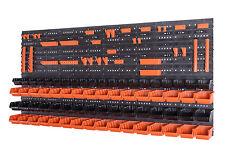 110 teiliges SET Lagersichtboxenwand Stapelboxen mit Montagewand Werkzeugwand