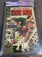 Iron Man #6 CGC 8.5 restored grade