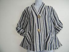 Plus Size Linen Casual Coats & Jackets for Women