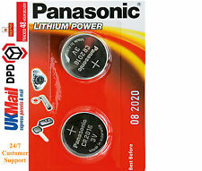 2 x Panasonic CR2016 Batteria A Bottone Al Litio 3V 2016