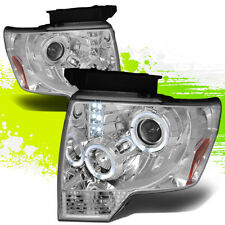 FOR 09-14 F150 F-150 XL/XLT/FX2/4 PICKUP DUAL HALO PROJECTOR+LED CLEAR HEADLIGHT