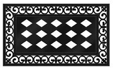 Sassafras Mat Tray Scroll Black Rubber