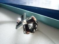 Pierre Lang Ring Gr. 9 o. 10 Silber RH Emaill  w. neu