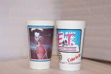 Vintage 1983 Et Extra Terrestrial 7-11 Plastic Cups Collectible Pair