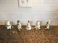 Lenox Very Merry Little Christmas Xmas Holiday Porcelain Tree Ornaments Set Of 5