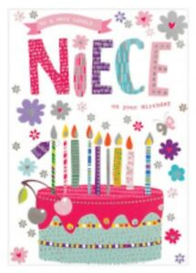 Niece Birthday Card ~ Birthday Cake  By Card Essentials ~ Free P&P