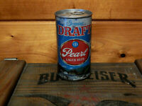 NICE BOTTOM OPEN VINTAGE PEARL DRAFT TAB TOP BEER CAN(USBC#107-36)SAN ANTONIO,TX