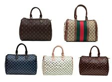 Women checkered barrel fashion handbag, tote, shoulder bag CF 1609.