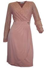 Wickelkleid Abendkleid 40 42 44 46 48 altrosa AMY VERMONT Spitze Kleid