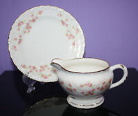 Vintage China Creamer & Saucer ~ Pope Gossier ~ FLORENCE ~ Made in U.S.A.