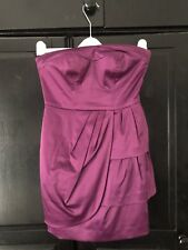 Giles Deacon Petite Bandeau Satin Mini Dress Size 8