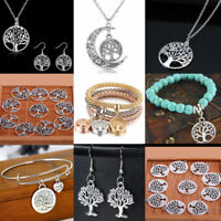 Tree of Life Pendant Silver Necklace Women Earrings Charm Bracelet Jewelry Hot