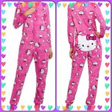 PLUS SIZE 3XL HELLO KITTY UNION SUIT DROP SEAT NON FOOTIE PAJAMAS LAST ONE!