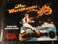 3D WorldRunner NES Nintendo Manual Instruction Booklet