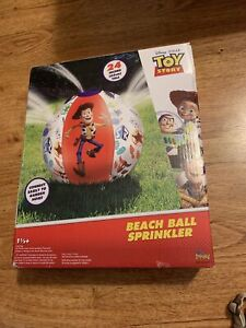 Disney Toy Story Pool Beach Ball Sprinkler Kids Water Spray Outdoor Backyard Fun