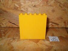 #5113# LEGO 1 PANNEAU MUR CLOISON PAROI JAUNE 1X6X5 ref 59349