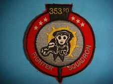 Vietnam War Patch, Us 353rd Fighter Squadron At Korat Royal Thai Air Force Base