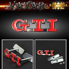 Red volkswagen GTI Car Front Hood Grille Grill Badge Emblem Auto 3D Metal Logo