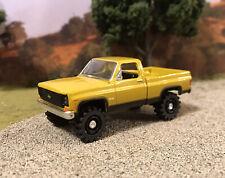 1973 Chevy K10 4x4 Truck Lifted 1/64 Diecast Custom Farm Square Body M2